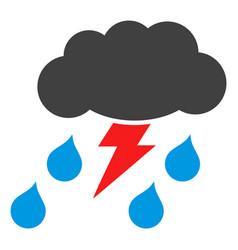 thunderstorm flat icon symbol vector image