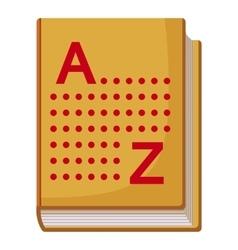 Translation book icon cartoon style vector image