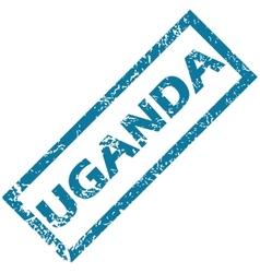 Uganda rubber stamp vector