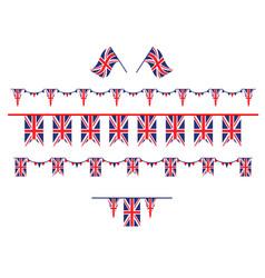 United kingdom set flag vector