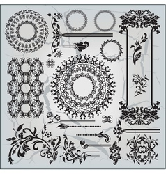 beautiful ornamental pattern on gray background vector image vector image