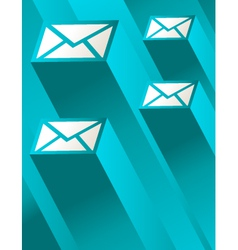 Blue Mail vector image vector image