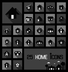 home icons concepts vector image