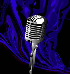 music mic vector image vector image