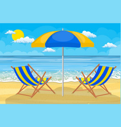 relaxing scene on a breezy day vector image