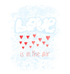 valentines day greeting card with clouds vector image