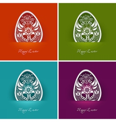 easter egg labels vector image