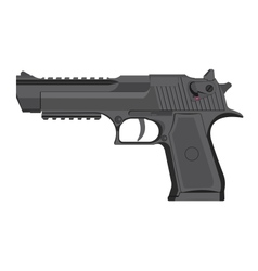 handgun in grey color vector image