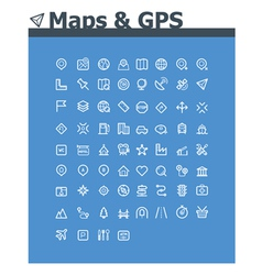 Maps and navigation icon set vector image