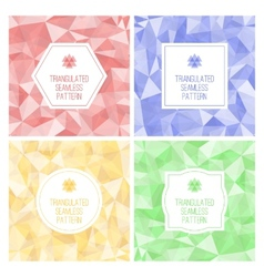 Set of four geometric seamless pattern from vector image vector image