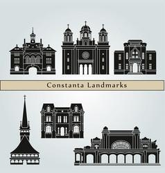 constanta landmarks vector image vector image