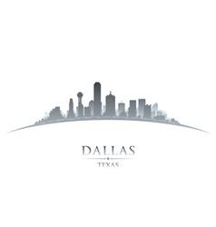 Dallas Texas city skyline silhouette vector image vector image