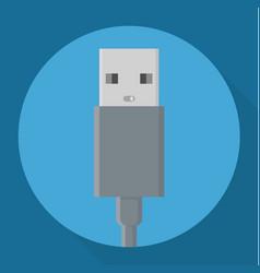 flat design usb connectors icon vector image vector image