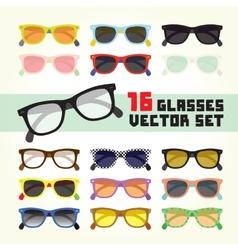 Hipster glasses set vector image