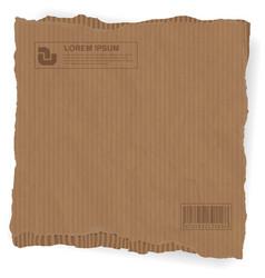 torn cardboard background vector image