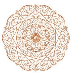 unique mandala design round ornamental pattern vector image vector image