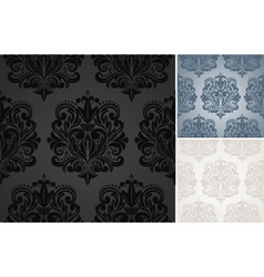 Beautiful damask pattern vector image vector image