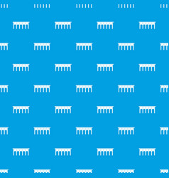 bridge pattern seamless blue vector image vector image