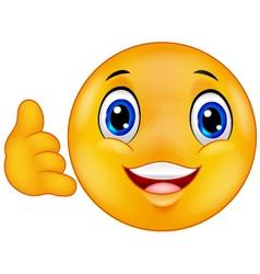 Call me emoticon smiley vector image vector image