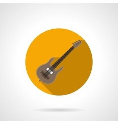 Music lessons flat color round icon vector image