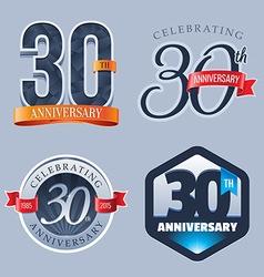 30 Years Anniversary Logo vector image