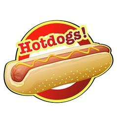 A hotdog label vector