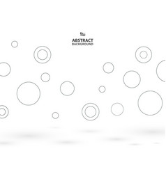 abstract of simple circles bounce background with vector image