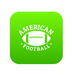 american football icon green vector image