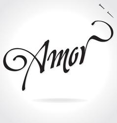 Amor original custom hand lettering vector