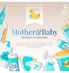 baby accessories poster design Newborn vector image