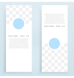 Banners and circles vector