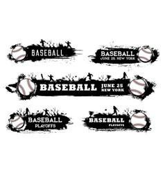 Baseball playoff banner softball sport tournament vector