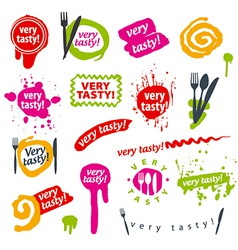 big set of logos for food vector image