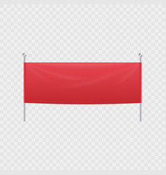 blank red textile horizontal banner or billboard vector image