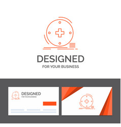 Business logo template for clinical digital vector