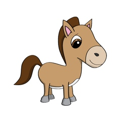 cartoon a cute little pony vector image