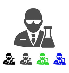 Chemical scientist flat icon vector