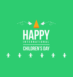 Childrens day background art vector
