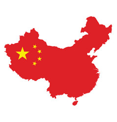 china map flag on a white background vector image