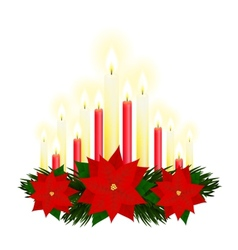 Christmas candles vector image