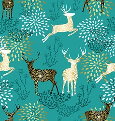 Christmas deer decoration pattern background vector