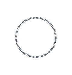circle binary circuit future technology cyber vector image