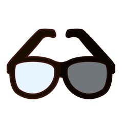 Classic frame glasses icon image vector