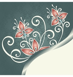Colored Floral Background vector image