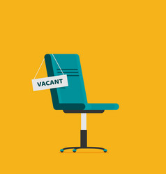 composition with office chair and sign vacant vector image