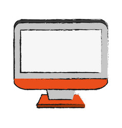 Computer monitor icon image vector