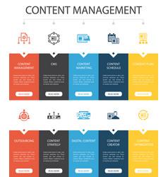 Content management infographic 10 option ui design vector