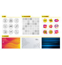 Copywriting notebook copyright chat and rfp icons vector