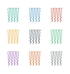 Curly hair icon white background vector