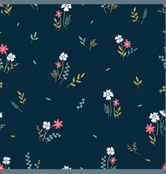 Cute hand drawn floral seamless pattern lovely vector